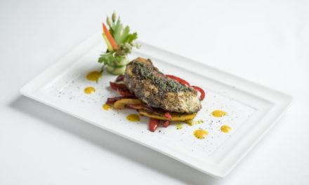 สเต๊กปลากะพงและพริกย่าง ที่เคปเฮ้าส์ กรุงเทพฯ