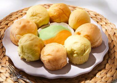 ขนมปังสังขยา-ตลาดน้ำดอนหวาย