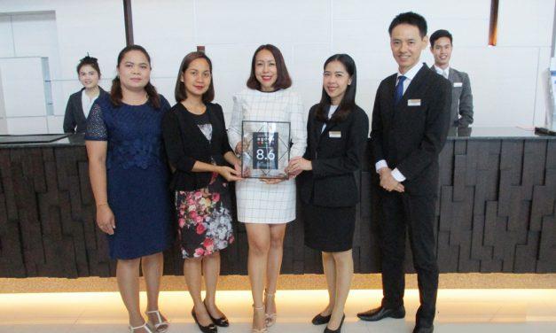 โรงแรมคามิโอ อมตะ บางปะกง ได้รับรางวัลจาก เว็บไซต์อโกด้า (Agoda) ประจำปี 2561