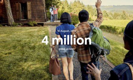 Airbnb ทุบสถิติผู้เข้าพักทั่วโลกทะลุ 4 ล้านคนในหนึ่งคืน