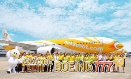 นกสกู๊ตเพิ่มเครื่องบินแบบโบอิ้ง 777-200 ในฝูงบิน